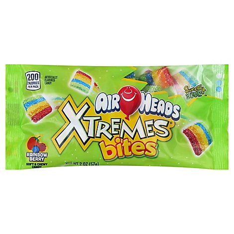 Airheads Candy Xtremes Bites Berry Rainbow - 2 Oz