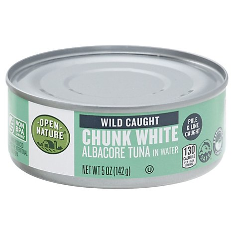 Open Nature Tuna Albacore Chunk White in Water - 5 Oz