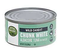 Open Nature Tuna Albacore Chunk White in Water - 12 Oz