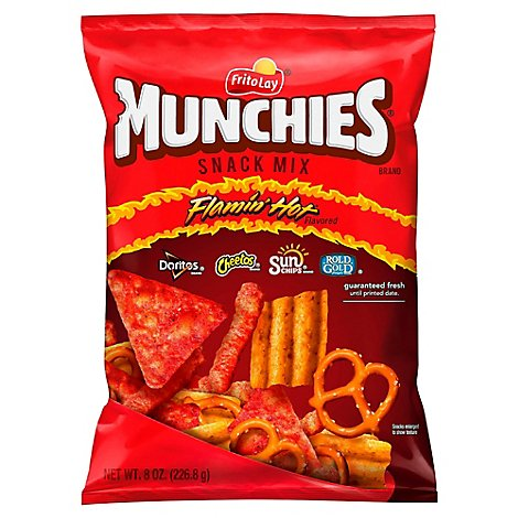 Munchies Snack Mix Flamin Hot Flavored - 8 Oz