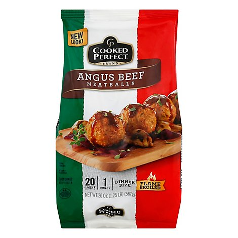 Cooked Perfect Meatballs Dinner Size Angus Beef - 20 Oz