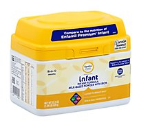 Signature Care infant Infant Formula Milk Based Powder Birth To 12 Months - 22.2 Oz