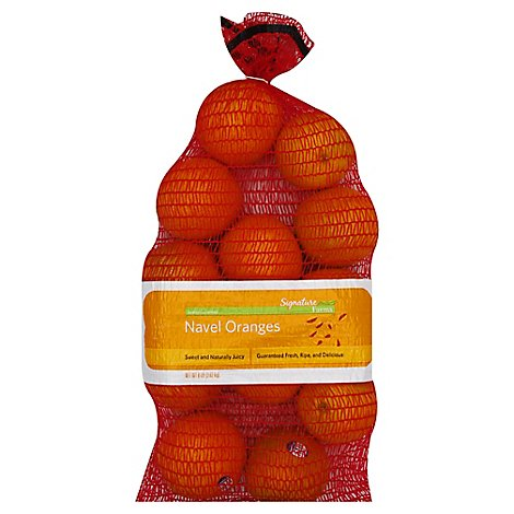 Signature Farms Oranges Navel Prepacked - 8 Lb