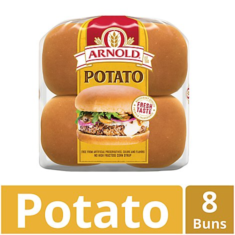 Arnold Sandwich Buns Country Potato 8 Count - 16 Oz
