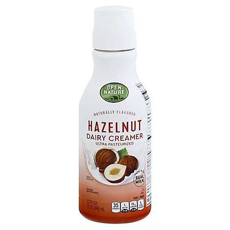 Open Nature Dairy Creamer Hazelnut - 32 Fl. Oz.