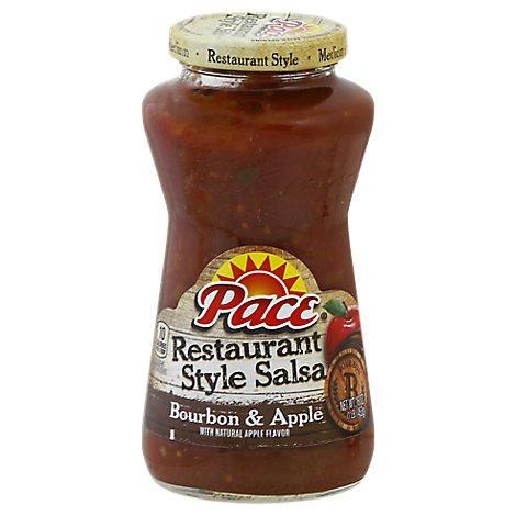 Pace Salsa Restaurant Style Bourbon & Apple Jar - 16 Oz