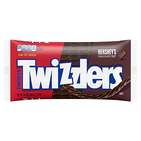 Twizzlers Candy Twists Chocolate - 12 Oz