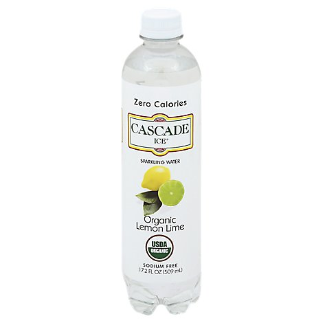 Cascade Ice Sparkling Water Organic Lemon Lime - 17.2 Fl. Oz.
