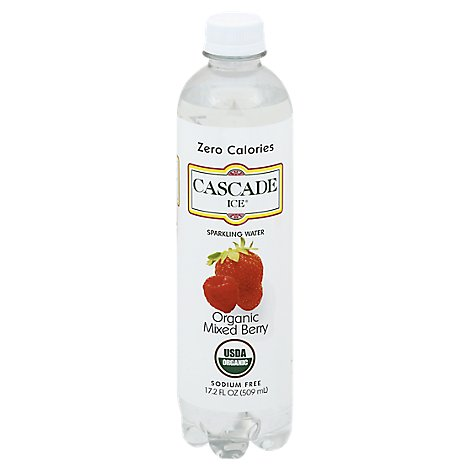 Cascade Ice Sparkling Water Organic Mixed Berry - 17.2 Fl. Oz.