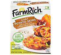 Farm Rich Snacks Loaded Potato Skins Stuffed With Cheddar Cheese & Bacon - 16 Oz
