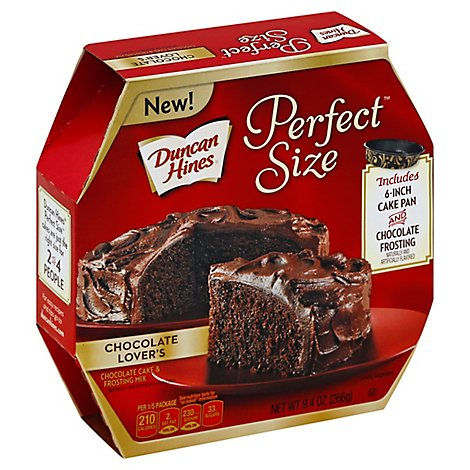 Duncan Hines Perfect Size Cake & Frosting Mix Chocolate Lovers - 9.4 Oz
