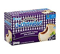 Smuckers Uncrustables Sandwiches Peanut Butter & Grape Jelly - 15-2 Oz