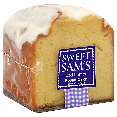 Sweet Sams Cake Pound Iced Lemon - Each