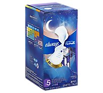 Always Pads with Flex Foam Flexi-Wings Extra Heavy Overnight - 24 Count