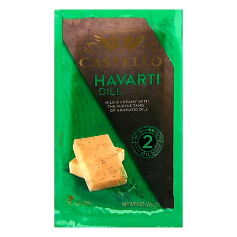 Cheese Havarti Chunks Dill - 8 Oz