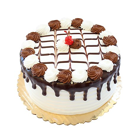 Bakery Cake 8 Inch 2 Layer Marble Cake - Each