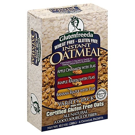 Glutenfreeda Oatmeal Variety Pack 8 Count - 11.2 Oz