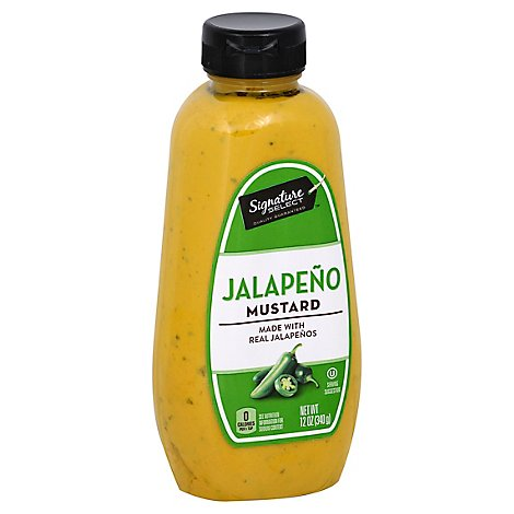 Signature SELECT Mustard Spicy Jalapeno - 12 Oz