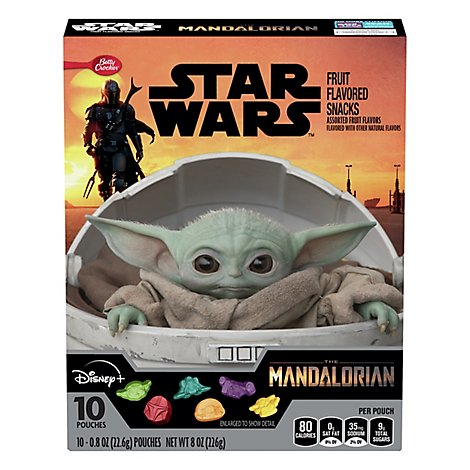 Betty Crocker Fruit Snacks Assorted Fruit Star Wars - 10-0.8 Oz