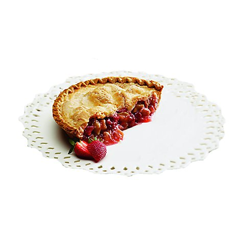 Bakery Pie Strawberry Half Rhubarb 9 Inch - Each