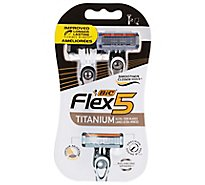 BIC Flex 5 Razors 5 Flexible Blades - 2 Count