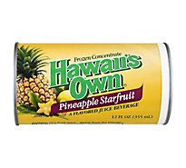 Hawaiis Own Juice Frozen Concentrate Pineapple Starfruit - 12 Fl. Oz.