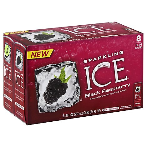 Sparkling ICE Sparkling Water Black Raspberry 8 Slim Cans - 8-8 Fl. Oz.