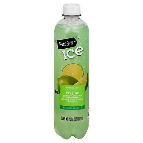 Signature SELECT Water Sparkling Ice Key Lime - 17 Fl. Oz.