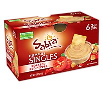 Sabra Hummus Roasted Red Pepper Singles - 6-2 Oz