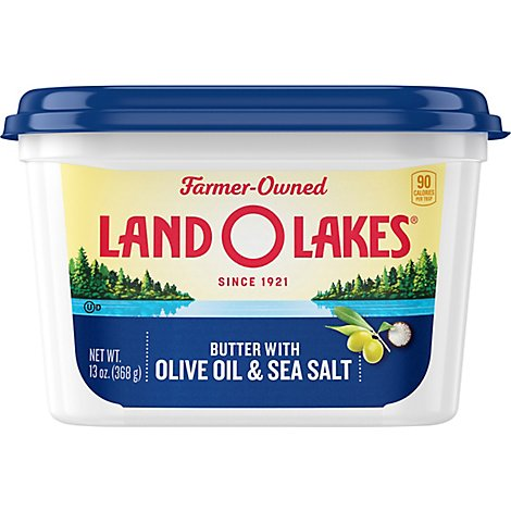 Land O Lakes Spreadable Butter with Olive Oil and Sea Salt - 13 Oz