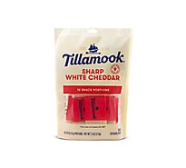 Tillamook Cheese Snack Portions Sharp White Cheddar - 10-0.75 Oz