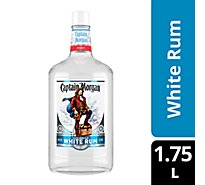 Captain Morgan Rum White Caribbean 80 Proof - 1.75 Liter