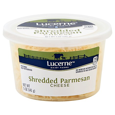 Lucerne Cheese Shredded Parmesan Cheese Tub - 5 Oz