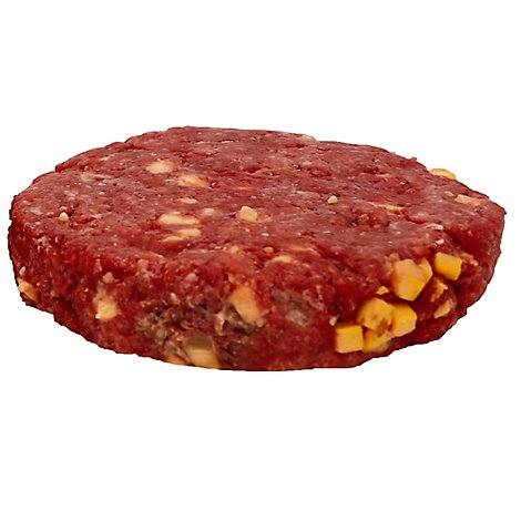 Meat Counter Beef Ground Beef Pub Burger Cheddar Cheese - 1.00 LB