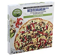 Open Nature Pizza Thin Crust Mediterranean Frozen - 15.3 Oz