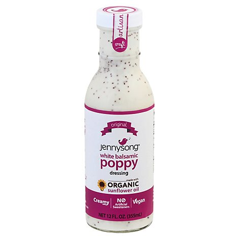 Jennysong Dressing White Balsamic Poppy - 12 Fl. Oz.