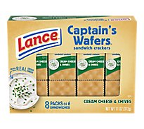 Lance Captains Wafers Crackers Sandwiches Cheese & Chives On-the-Go Packs - 8 - 11 Oz