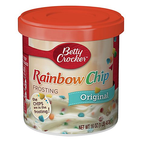 Betty Crocker Rich & Creamy Frosting Rainbow Chip Original - 16 Oz