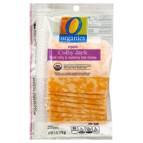 O Organics Organic Cheese Sliced Colby Jack - 6 Oz