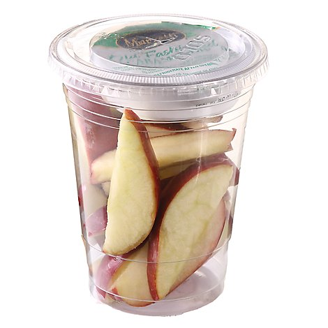 Fresh Cut Apple With Dip Cup - 6 Oz