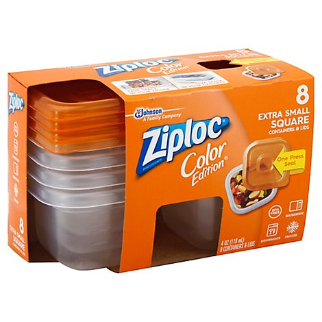 Ziploc Containers & Lids Color Edition Extra Small 4 Ounce Set - Each