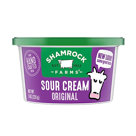 Shamrock Farms Sour Cream Original - 8 Oz