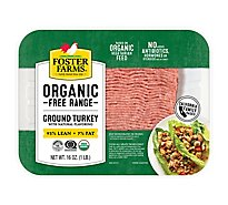 Foster Farms Organic Turkey Ground Turkey 93% Lean 7% Fat - 16 Oz