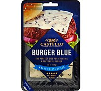 Castello Burger Blue Cheese Slices 6 - 5.3 Oz