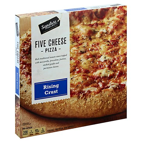 Signature SELECT Pizza Rising Crust Five Cheese Frozen - 29 Oz