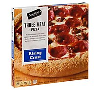 Signature SELECT Pizza Rising Crust Three Meat Frozen - 31.3 Oz