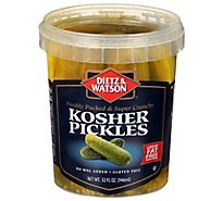 D&W Pickles Kosher Whole - 32 Oz