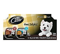Cesar Home Delights Canine Cuisine Slow Cooked Chicken & Vegetable Beef Stew Pack - 12-3.5 Oz