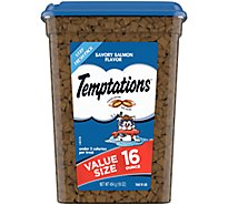 TEMPTATIONS Classic Cat Treats Crunchy And Soft Savory Salmon Flavor - 16 Oz