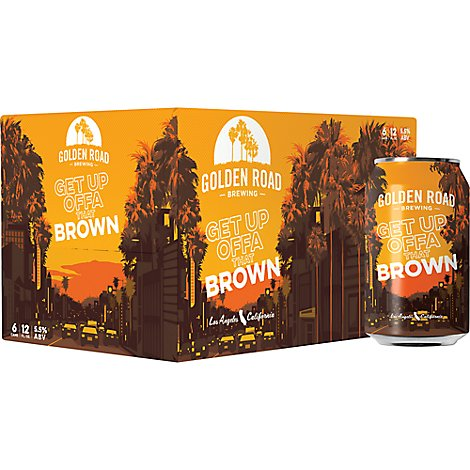 Golden Road Brewing Get Up Offa That Brown In Cans - 6-12 Fl. Oz.
